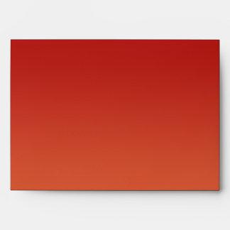 Cranberries on Orange Stripe Wedding Envelope