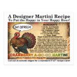 Cranberry A-Go-Go Thanksgiving Martini Recipe Card Post Cards