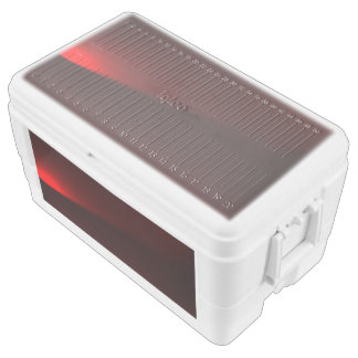 Cranberry and Black Lights Chest Cooler