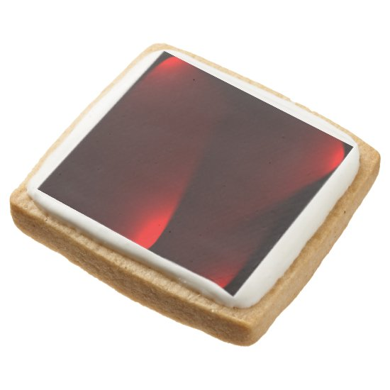 Cranberry And Black Lights Square Shortbread Cookie