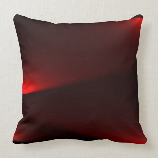Cranberry And Black Lights Throw Pillow