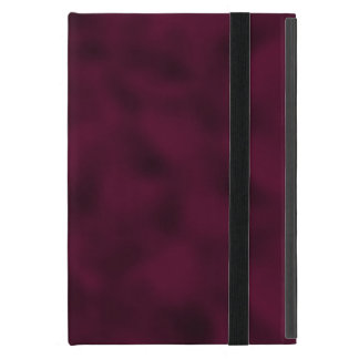 Cranberry and Black Mottled Covers For iPad Mini