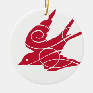 Cranberry Bird Ornament
