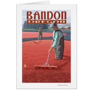 Cranberry Bogs Harvest - Bandon, Oregon Card