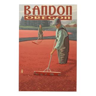 Cranberry Bogs Harvest - Bandon, Oregon Wood Print