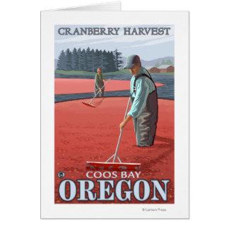 Cranberry Bogs Harvest - Coos Bay, Oregon Card