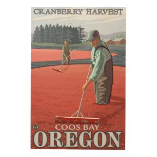 Cranberry Bogs Harvest - Coos Bay, Oregon Wood Wall Decor
