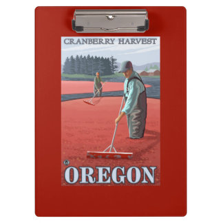 Cranberry Bogs Harvest Vintage Travel Poster Clipboard