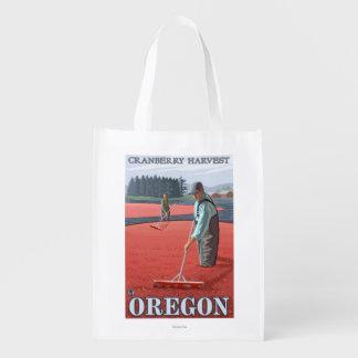 Cranberry Bogs Harvest Vintage Travel Poster Grocery Bag