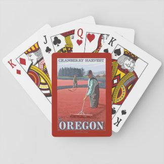 Cranberry Bogs Harvest Vintage Travel Poster Playing Cards