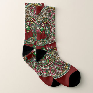Cranberry Boho Socks