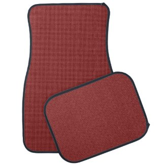 Cranberry Carpet Weave Print Car Mats