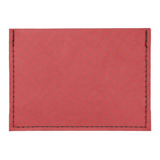 Cranberry Christmas Red Quilted Pattern Tyvek® Card Case Wallet