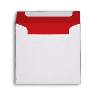 Cranberry Christmas Red Quilted Pattern Envelope