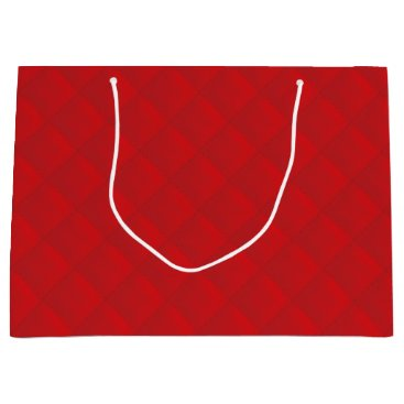 Beach Themed Cranberry Christmas Red Quilted Pattern Large Gift Bag