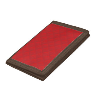Cranberry Christmas Red Quilted Pattern Tri-fold Wallet