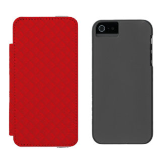 Cranberry Christmas Red Quilted Pattern Incipio Watson™ iPhone 5 Wallet Case
