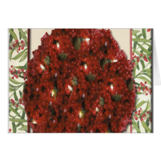 Cranberry Christmas Tree Ornament Greeting Card