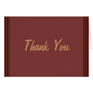 Cranberry Class Elegant Thank You Greeting Cards