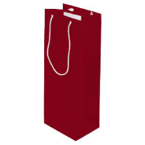 Cranberry-Colored Wine Gift Bag