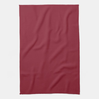 Cranberry Dark Red Solid Trend Color Background Hand Towels
