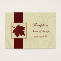 cranberry fall leaf fall autumn wedding business card