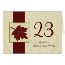 cranberry fall leaf fall autumn wedding card