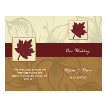cranberry fall leaf fall autumn wedding flyer