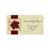 cranberry fall leaf fall autumn wedding label