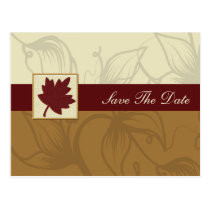 cranberry fall leaf fall autumn wedding postcard