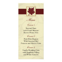 cranberry fall leaf fall autumn wedding rack card