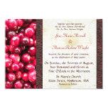 "Cranberry Fall Wedding Invitation 5"" X 7"" Invitation Card"