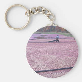 Cranberry Harvest Key Chain