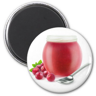 Cranberry jelly magnet