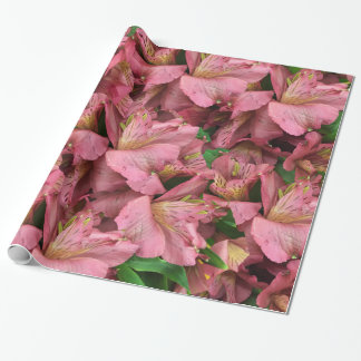 Cranberry Lilies Wrapping Paper