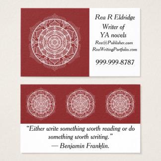 Cranberry Mandala Business Card