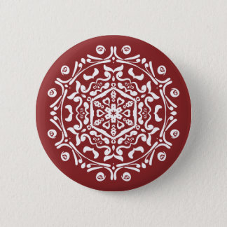 Cranberry Mandala Button