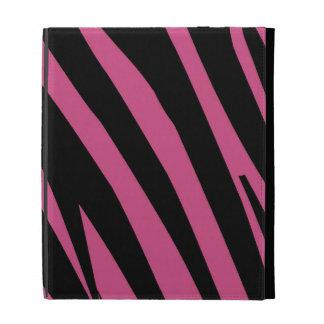 Cranberry Pink and Black Zebra Print iPad Cases