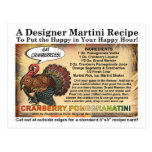 Cranberry PomegranateThanksgiving Martini Recipe Postcard