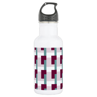 Cranberry Rectangles Water Bottle