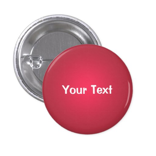 "Cranberry Red 1 1/4"" Custom Text Button Template"