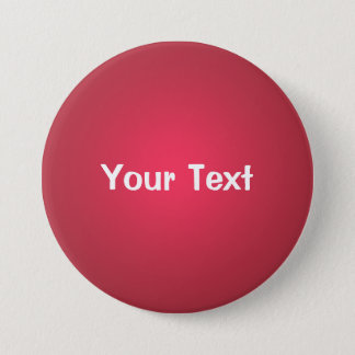 """Cranberry Red 3"""" Custom Text Button Template"""