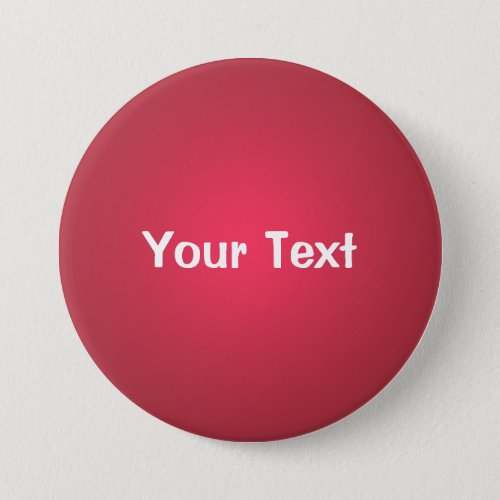 Cranberry Red 3 Custom Text Button Template