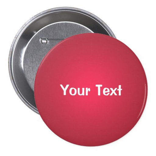 cranberry red 3 custom text button template zazzle. Black Bedroom Furniture Sets. Home Design Ideas