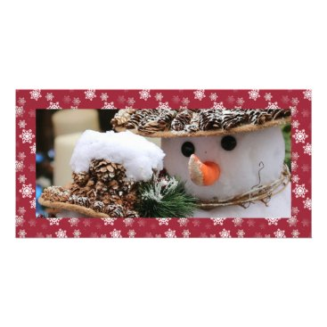 Disney Themed Cranberry Red and White Snow Flurries Custom Card