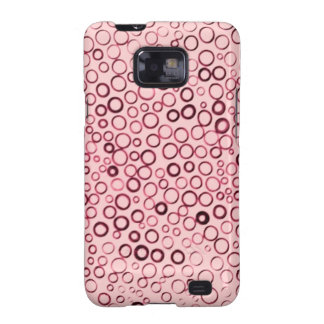 Cranberry Red Circles Tiny Bubbles Case-Mate Samsung Galaxy S2 Cover