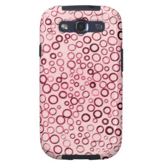 Cranberry Red Circles Tiny Bubbles Case-Mate Samsung Galaxy SIII Cover