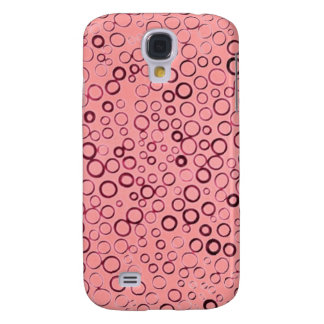 Cranberry Red Circles Tiny Bubbles Case-Mate HTC Samsung Galaxy S4 Case