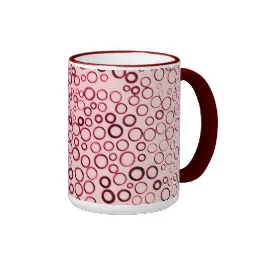 Cranberry Red Circles Tiny Bubbles Coffee Cup Mug