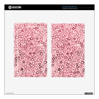 Cranberry Red Circles Tiny Bubbles Kindle Fire Kindle Fire Skins
